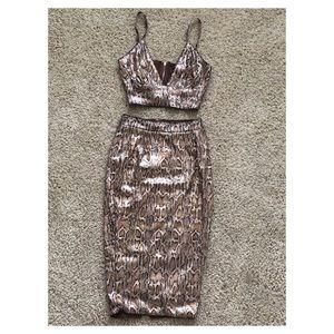 Fashion Nova Matching Skirt Set